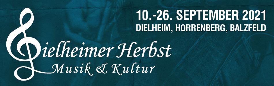 Logo und Ankündigung Dielheimer Herbst 2021