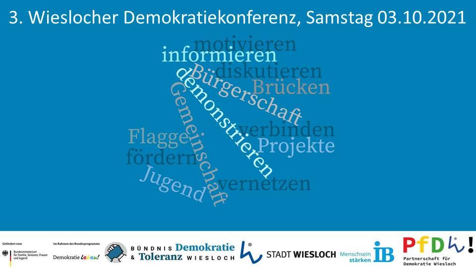Titelbild der Einladung zur 3. Demokratiekonferenz der PfD Wiesloch am 03.10.2021 im Palatin